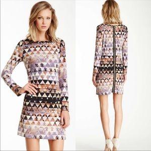 Vince Camuto Triangle Aztec Jewel Collar Dress